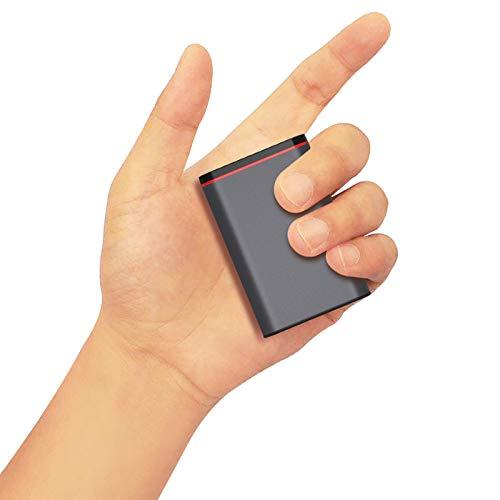 YOBON Quick Charge 3.0 Powerbank 10000mAh Handy PD 18W Mini Externer Akku Klein LCD Tragbares Ladegerät Akkupack Dual USB Ports mit Type C Ausgang Externer Batterie Pack