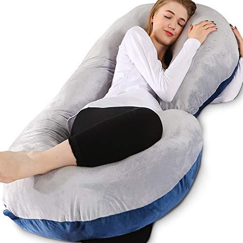 Chilling Home Pregnancy Pillows for Sleeping, C Shaped Body Pillow Pregnant Pillows for Sleeping Full Body Pillow…