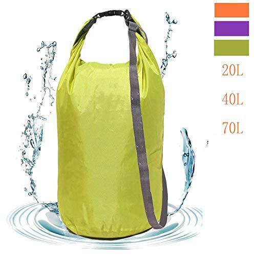 Flyhome Dry Bag - Bolsa impermeable de 70 l, ultra ligera, resistente al agua, para kayak, camping, natación, surf, deportes acuáticos