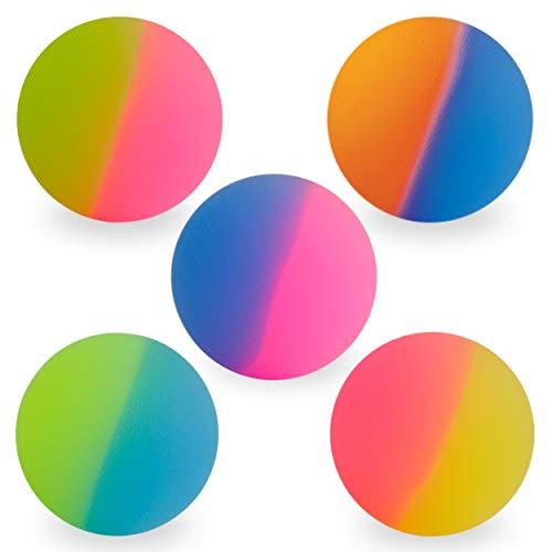 Entervending Bouncy Balls - Rubber Balls for Kids - ICY Bounce Balls - 5 Pcs Large Bouncy Ball 45 mm...