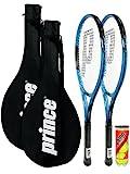 Prince Power Shark Ti - Raqueta de tenis para adultos, incluye 2 fundas...