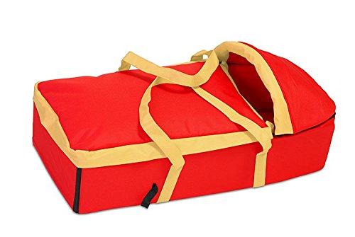 Softtragetasche/Tragetasche für Kinderwagen von UNITED-KIDS, diverse Farben, Farbe:Rot-Gelb