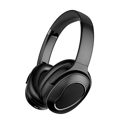 Anc Auriculares Bluetooth inalámbricos, plegables Hifi sobre la oreja estéreo activa reducción de ruido auriculares inalámbricos para trabajo, viajes, teléfono móvil, PC TV