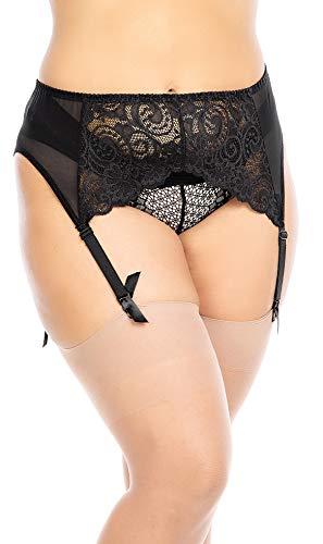 BIGGI BIG Suspender Porte-jarretelles pour grandes tailles-noir-50-52