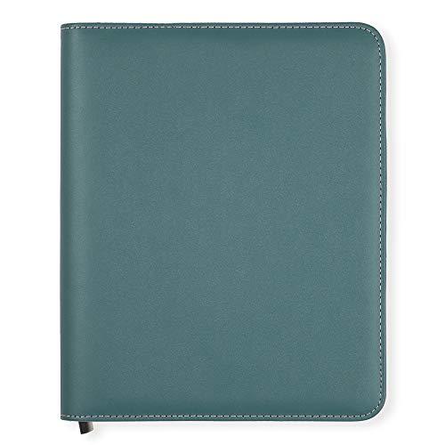 Boxclever Press Essentials A5 Buchhülle aus Kunstleder mit Reißverschluss. Buchumschlag für Terminplaner, Kalender und Bücher. Geeignet für das Privat-, Berufs- und Studentenleben (Petrolblau)