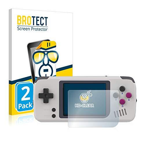 BROTECT Schutzfolie kompatibel mit Pocket Go Handheld (2 Stück) klare Displayschutz-Folie