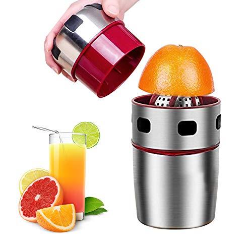 Squeezer, manuelle Handpresse mit Sieb und Behälter, Handpresse Citrus Orange Squeezer für Zitrone, Limette, Citrus