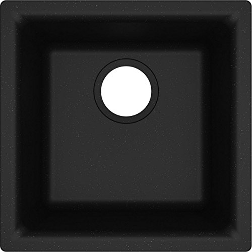 Elkay Quartz Classic ELG1616BK0 Black Single Bowl Dual Mount Bar Sink