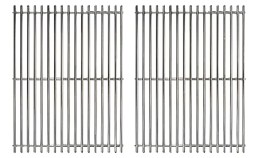 ProFire 304 Stainless Steel Cooking Grates 7528 (19.5 x 12.9 x 0.6) for Weber Genesis E310 E320 E330 S310 S320 S330 EP310 EP320 Gas Grills
