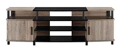 "Ameriwood Home Carson TV Stand for TVs up to 70"", Weathered Oak"