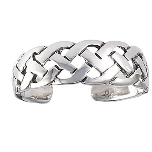 Sterling Silver Open Irish Celtic Braided Weave Adjustable Middle Ear Cuff Wrap Band