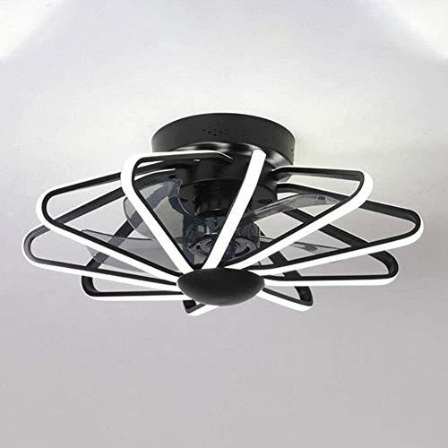 DLGGO Techo de lujo del ventilador con la iluminación LED regulable luz de techo moderna, 52W con control remoto invisible Nordic Light Ventilador, Silencio Dormitorio Salón Comedor Inicio Ventilador