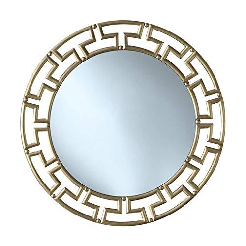 Miroirs Miroir Mural Salle De Bains Porche Rond Miroir Miroir Suspendu Au Mur Miroir Mural Néoclassique Miroir De Courtoisie De La Chambre Salon Mur De La Véranda Miroir Décoratif