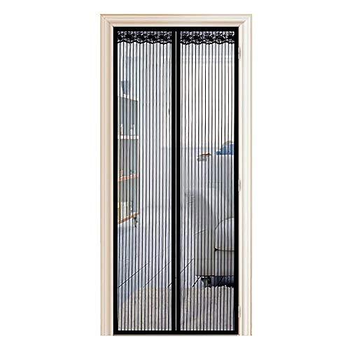 Enllonish Magnet Fliegengitter Tür Insektenschutz Balkontür Fliegenvorhang 100x210cm, Klebemontage Ohne Bohren, Der Magnetvorhang ist Ideal für Terrassentür, Kellertür und Balkontür