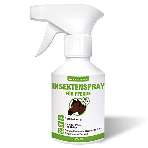 Silberkraft Insektenspray Pferde 500 ml, effektiver Schutz gegen Bremsen, Stechmücken, Fliegen und Zecken, für Pferd und Reiter, Sofort- und Langzeitwirkung