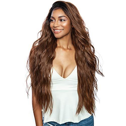 Mane Concept Human Hair Blend Lace Front Wig Brown Sugar Natural Hair Line BSN202 Bryce (1B)