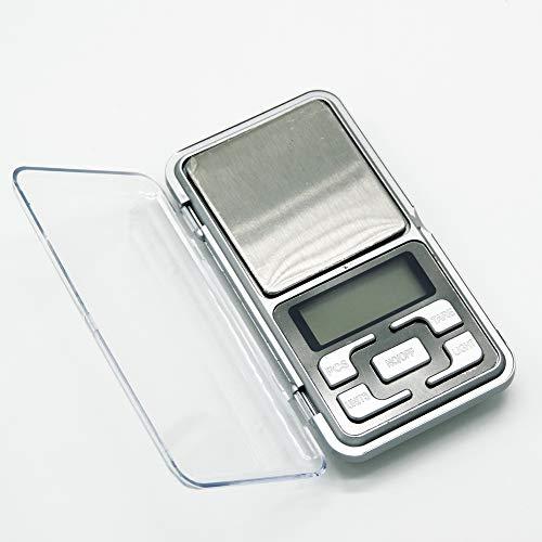 Digitale Feinwaage, Taschenwaagen von 0.01g/200g, silber