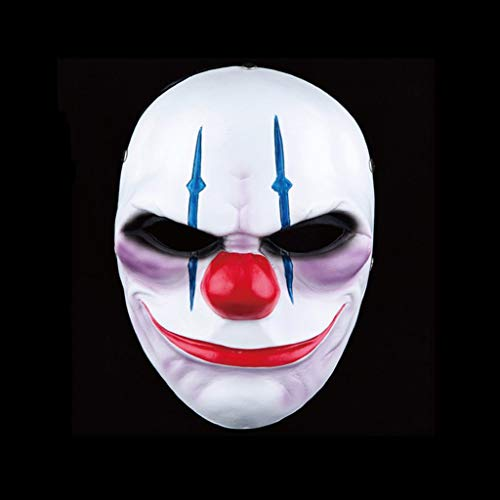 HBJP Halloween Maske Lächelnd Clown Cosplay Bühnenmaske Ghost Masquerade Masken Party Gesichtsmasken (Color : B)