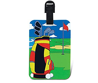 Puzzled Golfing Luggage Tag - Unique Golf Clubs Sports Novelty Travel Tags For Luggage, Cute Golfing Course Travel ID Identification Label For Suitcase, Backpack, and Sports Bag - Tags for Men & Women