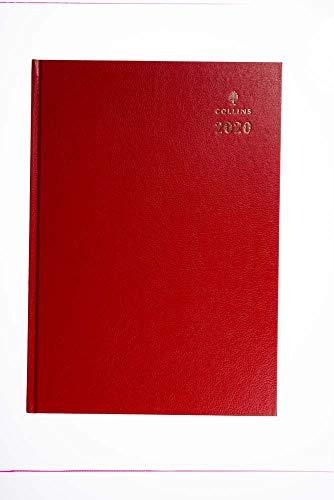 Collins - Agenda 2020, formato A4, visualizzazione settimanale, colore: rosso