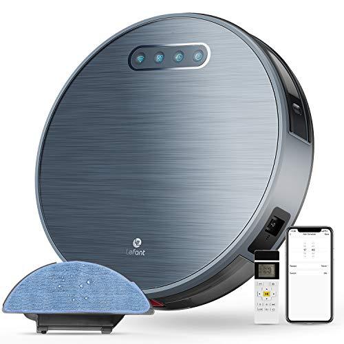 Robot Aspirador 3 Horas de autonomía 4500MAH Robot Aspirador WiFi con succión 2000 Pa, aplicación doméstica Alexa/Google/Control Remoto Ideal para alfombras Cortas de Animales Lefant-M571
