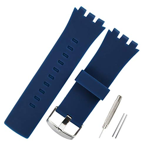 KHZBS Silicone Watch Strap Replacement for Swatch Touch Collection Watch Band (24mm)
