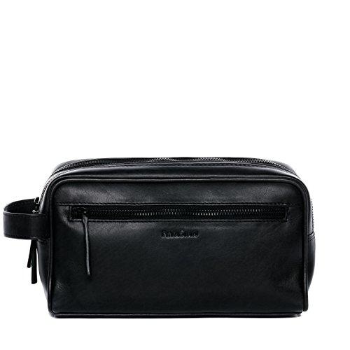 FEYNSINN borsa toiletry vera pelle FRIIS borsetta necessaire Toilette pochette beauty case da Viaggio uomo cuoio nero
