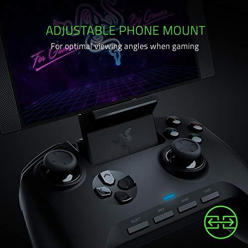 Razer Raiju Mobile: Mobiler Gaming-Controller für Android (Ergonomisches Layout mit Multifunktionstasten, Hair-Trigger-Modus, Verstellbare Smartphone-Halterung, Konfiguration über mobile App) - 3
