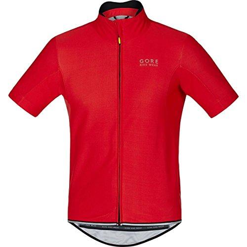 Gore Bike WEAR Herren Soft Shell Rennrad-Jersey, Kurzarm, Gore Windstopper, Power WS SO Jersey, Größe: XL, Rot, SWSOPO
