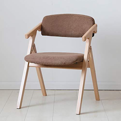 Zhedyi eetkamerstoel, inklapbaar, voor buiten, comfortabele bureaustoel zonder armleuningen, hoge rugleuning, draagbaar, gevoerd, voor volwassenen
