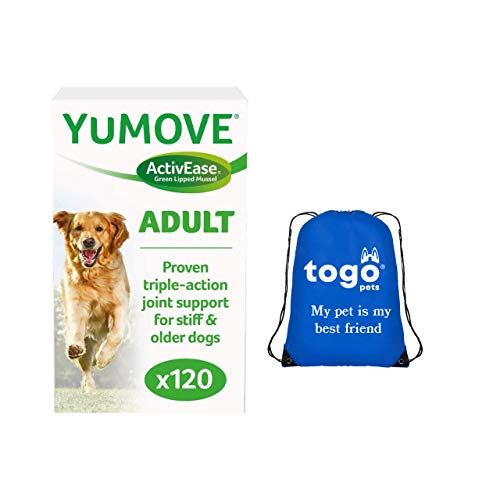 Yumove Dog Joint Supplement (120 Tablets): Hip and Joint Care for Dogs + Pet Bag
