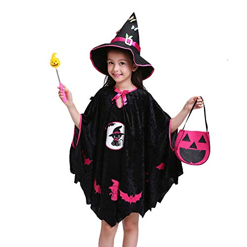 Pumpkin Dress Up Costume Toddler for Halloween Christmas Party, Outfit Fits Sizes 3-11T Girls
