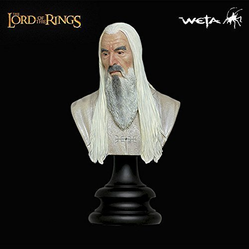 SARUMAN THE WHITE 1/4 Scale Polystone Bust 2002 The Lord of the Rings: The Two Towers Sideshow Weta Collectibles