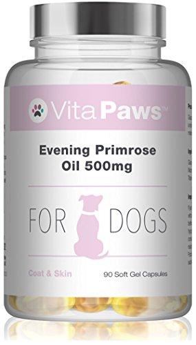 VitaPaws Olio di Enotera 500 mg per cani - 90 Capsule - SimplySupplements