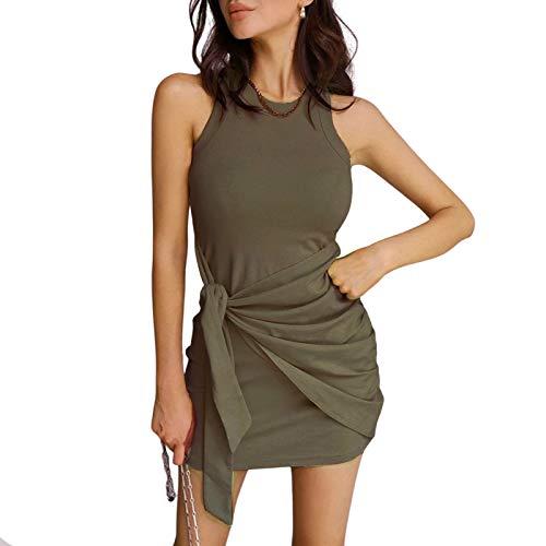 Vestido Casual Verano para Mujer Vestido Camiseta Sin Mangas Casuales Suelto Vestido...