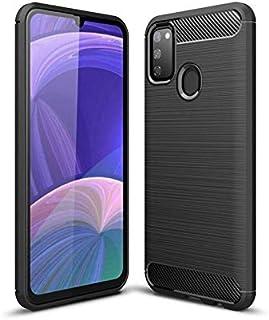 Samsung Galaxy M30S Mobile Phone Case Carbon Fiber Silicone Anti-Drop Case Cover