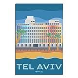 ASFGH Isreal Vintage-Reise-Poster Tel Aviv Dekor Gemälde