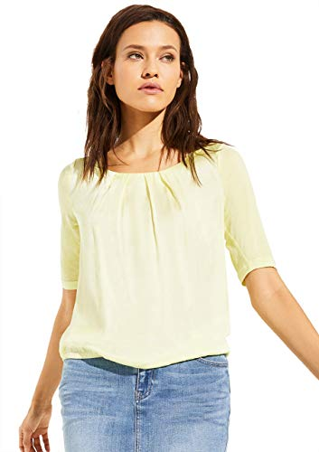 Comma CI Damen 80.899.32.0864 T-Shirt, 1136 Yellow, 40