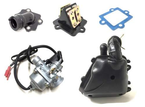 12mm Vergaser Luftfilter Ansaugstutzen Set für CPI Aragon, Generic Spin, Yamaha Aerox Neos