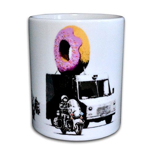Banksy Donut Police - Designertasse für den Start in den Morgen, neues vom Kultkünstler Banksy