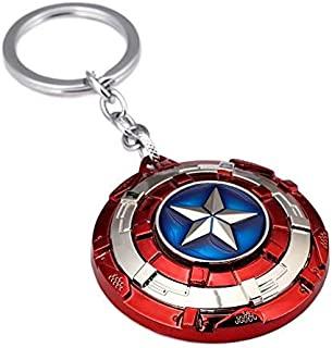 Trunkin Captain America | Patterned Rotating Shield | Silver Keychain