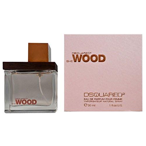 Dsquared She Wood Eau de Parfum voor dames, verstuiver, per stuk verpakt (1 x 30 ml)