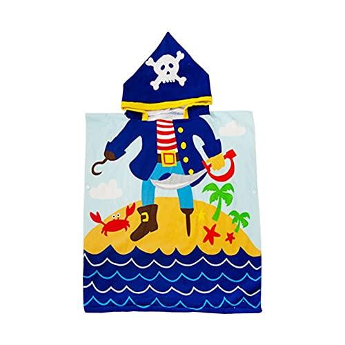 Poncho de algodón Suave Manta Albornoz niños Bebé niño Nadando baño Toalla Ducha Agua Absorber Manta Toallas de Playa Muchachos Chicas Encantadora Alfombra Turbante Capucha fácil seco