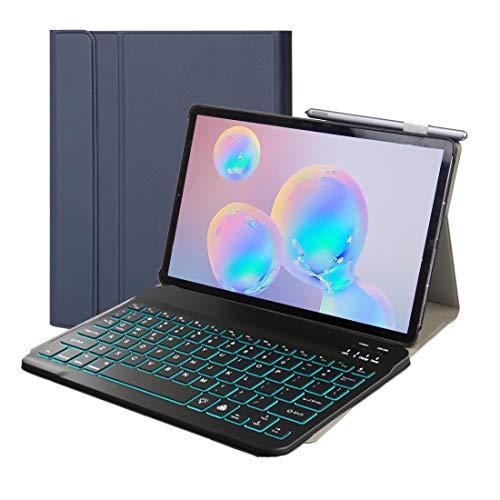 Accesorios para tabletas ST500 para Samsung Galaxy Tab A7 T500 / T505 10.4 pulgadas 2020 Estuche de cuero con teclado Bluetooth desmontable ultradelgado con soporte, función de suspensión y retroilumi