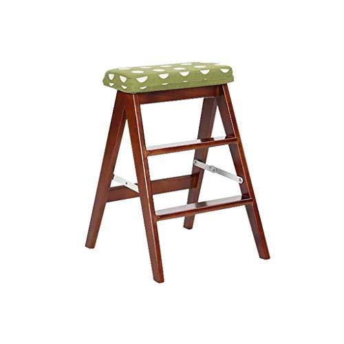 XUXUWA Sillas de comedor de madera maciza plegable taburete de estudio escalera portátil taburete de cocina taburete plegable silla de almacenamiento estante portátil bancos de almacenamiento