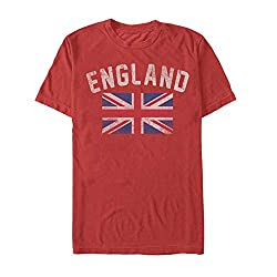 casual red england shirt
