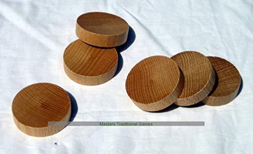Set 32 Tournament (concave) Masters Dutch Shuffleboard (Sjoelbak) disks