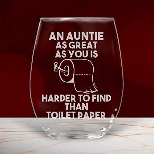 Copa de vino sin tallo, regalo divertido para cumpleaños, regalo de cuarentena de distancia social de sobrina sobrino de 11 onzas