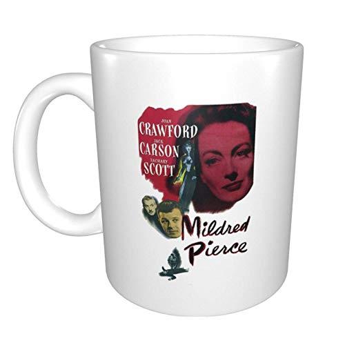Tazas Mildred Pierce 1945 Michael Curtiz Taza de Café de Cerámica Personalizada Taza de té El Mejor Regalo Para la Oficina en Casa 11.6oz (330ml)