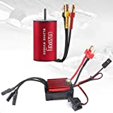 Crazeopony-UK BL2240 4600KV Sensorless Brushless Motor and 35A ESC Electric Speed Controller Waterproof Motor ESC Combo for 1:16 1:18 RC Car Red